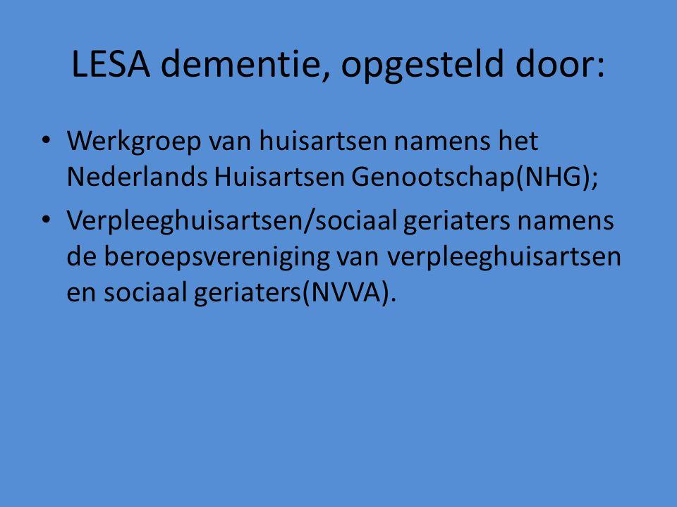 LESA dementie, opgesteld door: