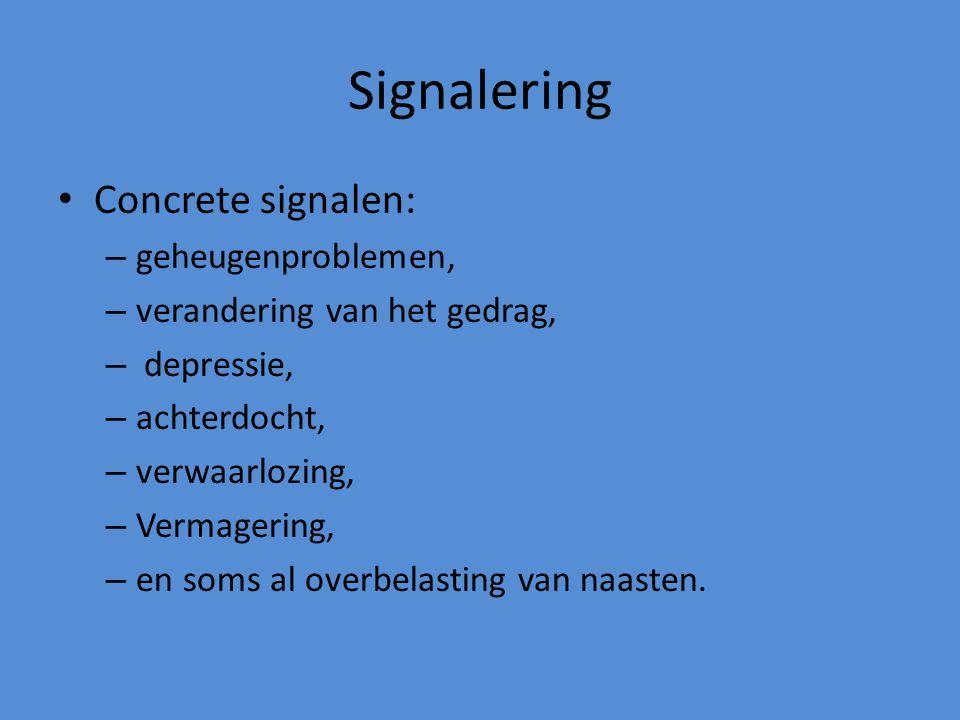 Signalering Concrete signalen: geheugenproblemen,