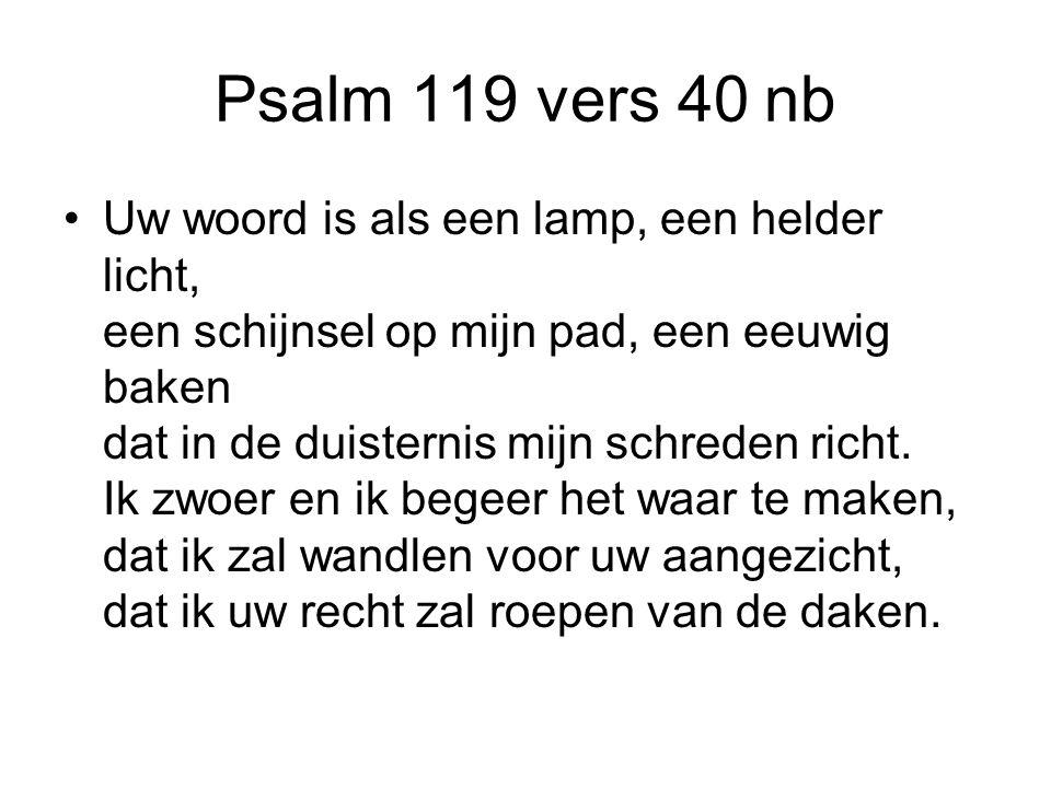 Psalm 119 vers 40 nb
