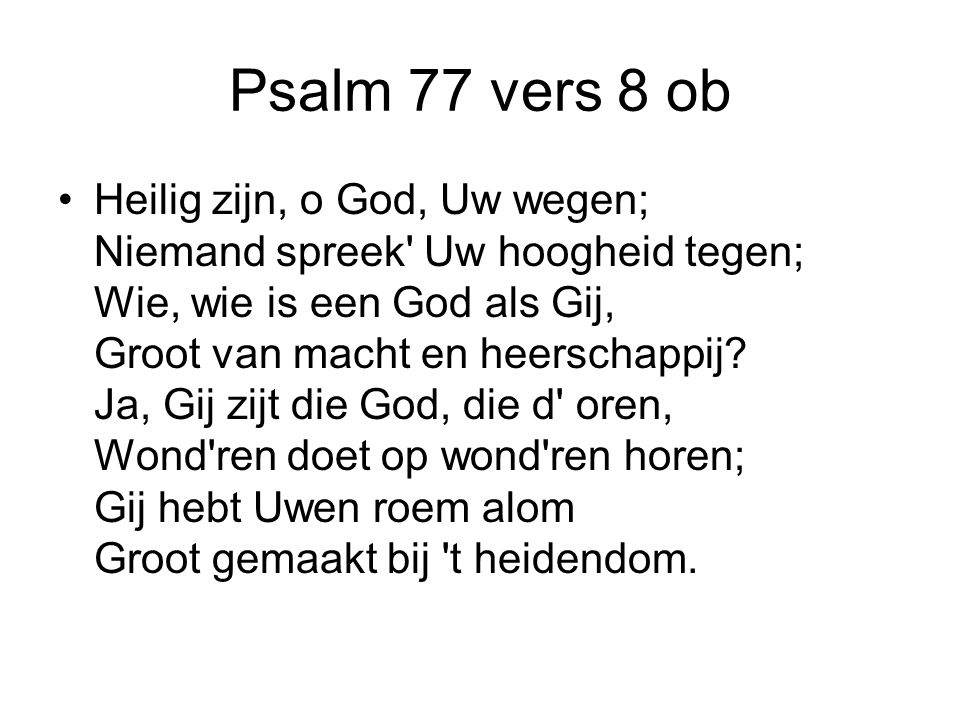 Psalm 77 vers 8 ob