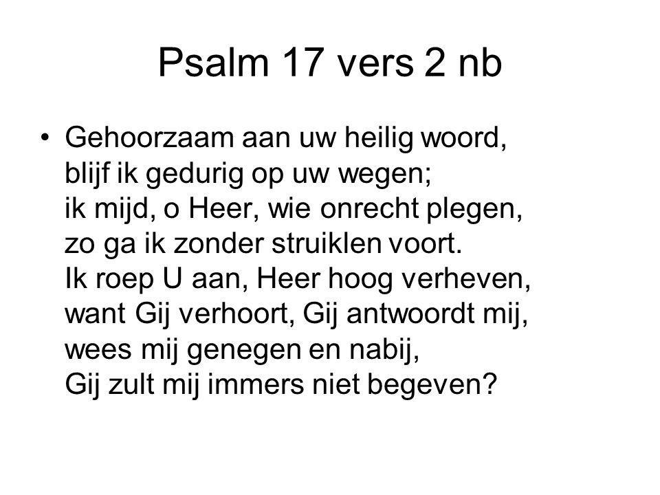 Psalm 17 vers 2 nb