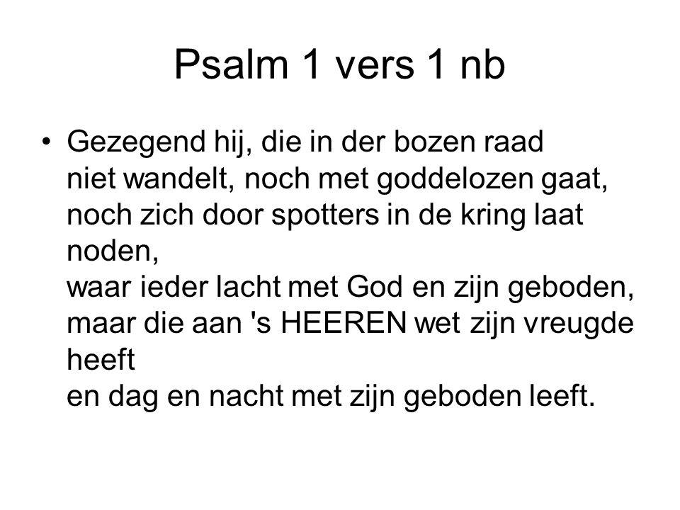 Psalm 1 vers 1 nb