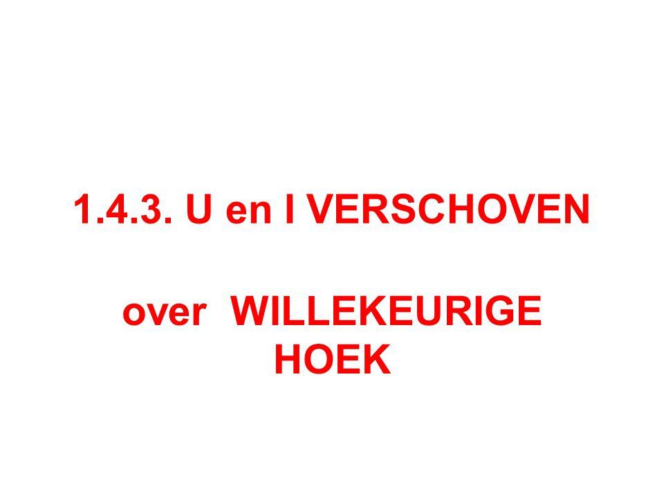 over WILLEKEURIGE HOEK