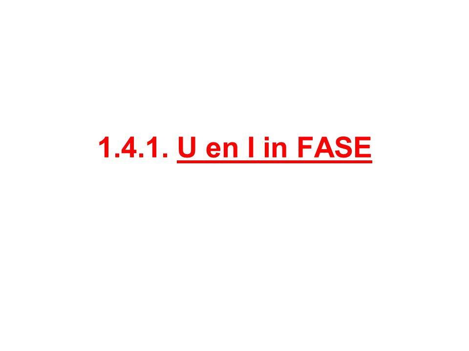 1.4.1. U en I in FASE