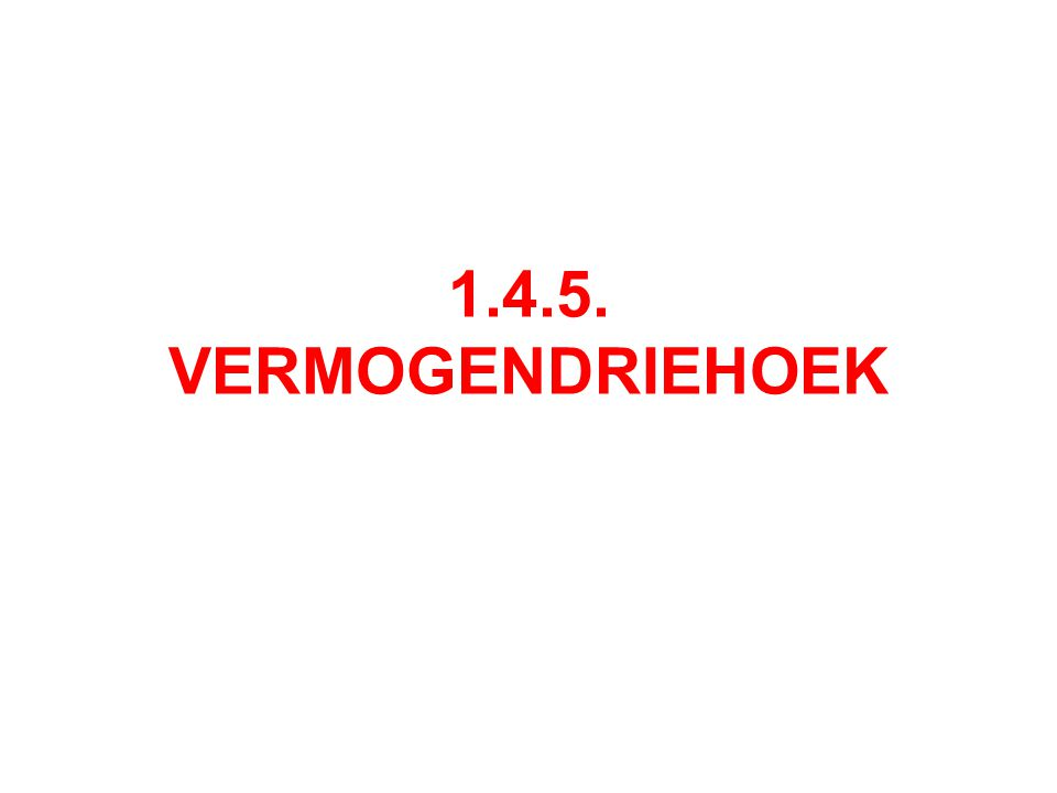 1.4.5. VERMOGENDRIEHOEK