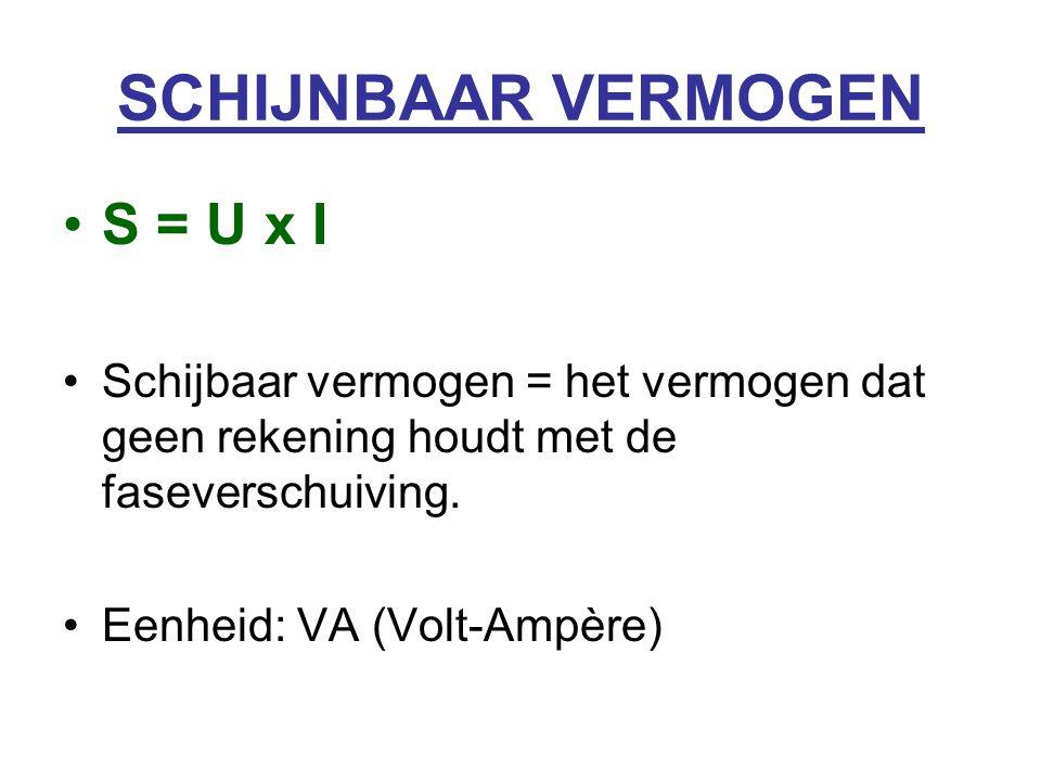 SCHIJNBAAR VERMOGEN S = U x I