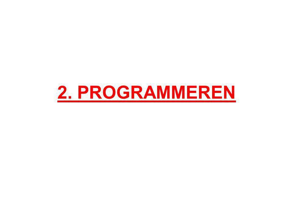 2. PROGRAMMEREN