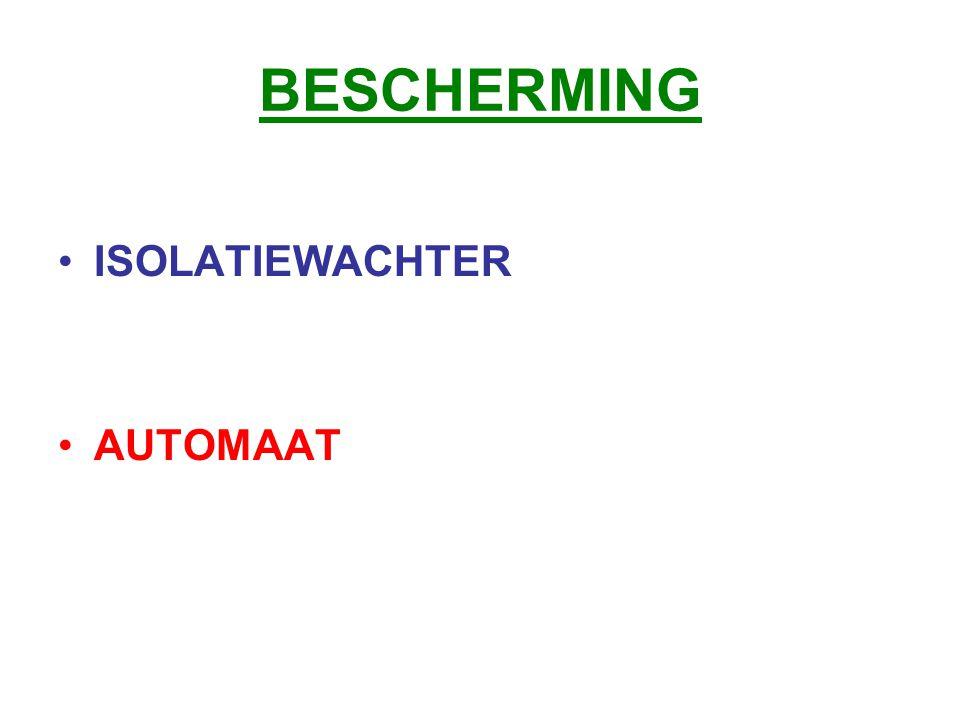 BESCHERMING ISOLATIEWACHTER AUTOMAAT