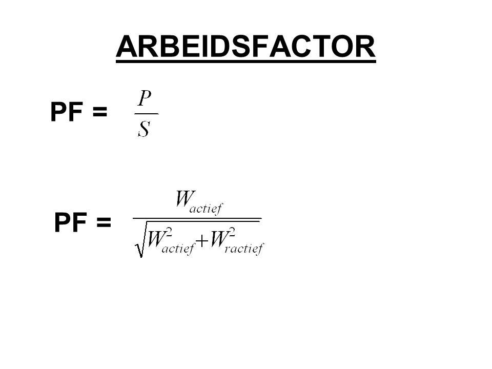 ARBEIDSFACTOR PF = PF =
