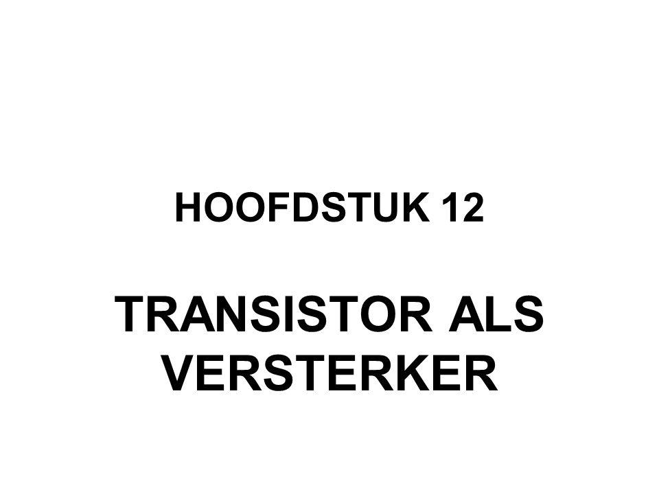 TRANSISTOR ALS VERSTERKER