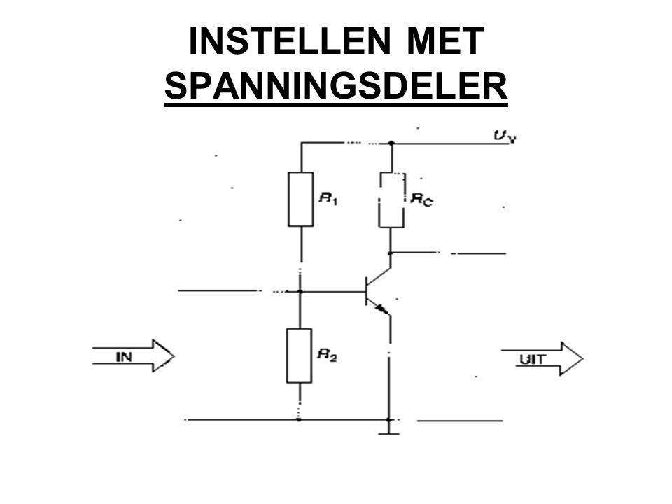 INSTELLEN MET SPANNINGSDELER