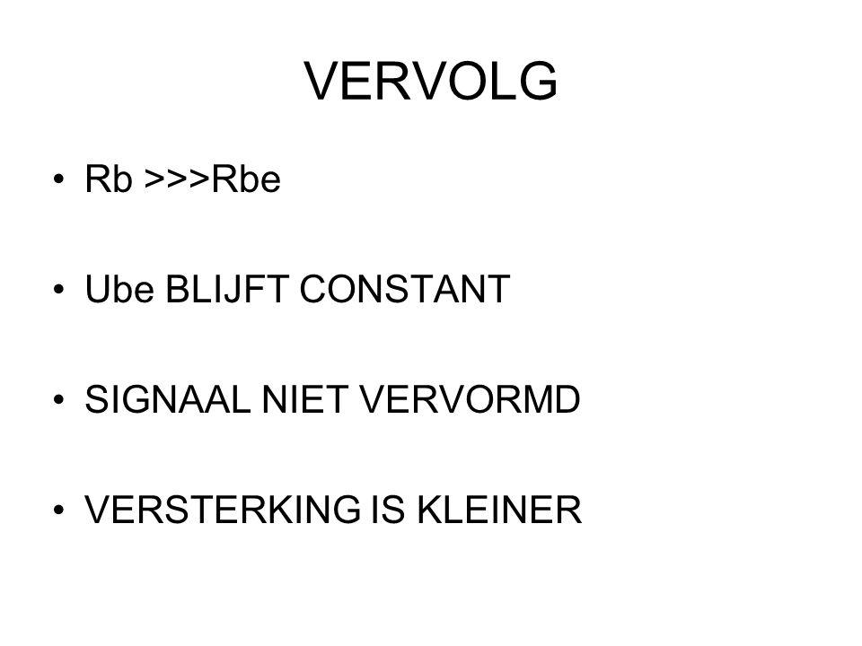 VERVOLG Rb >>>Rbe Ube BLIJFT CONSTANT SIGNAAL NIET VERVORMD