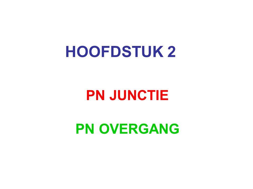 HOOFDSTUK 2 PN JUNCTIE PN OVERGANG