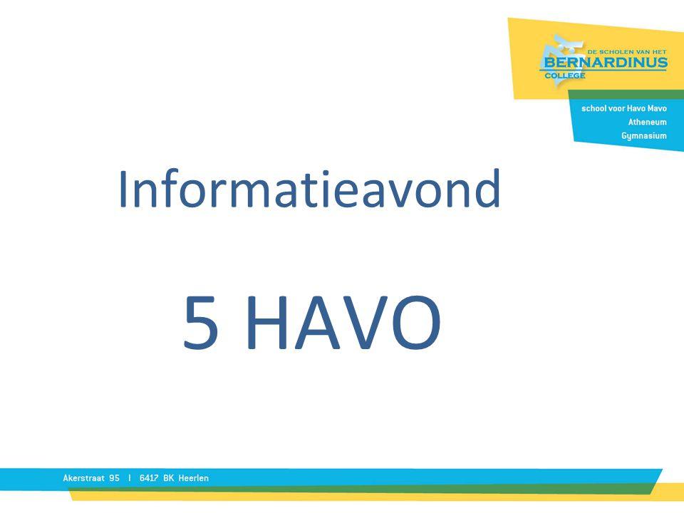 Informatieavond 5 HAVO