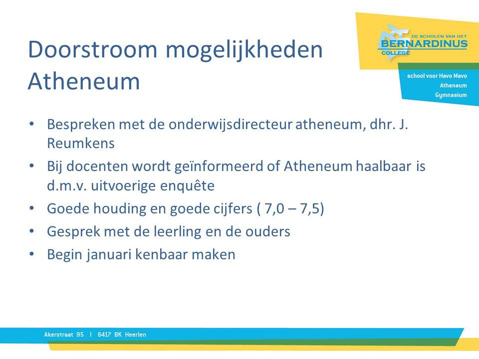 Doorstroom mogelijkheden Atheneum