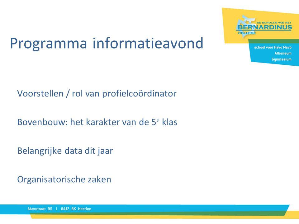 Programma informatieavond