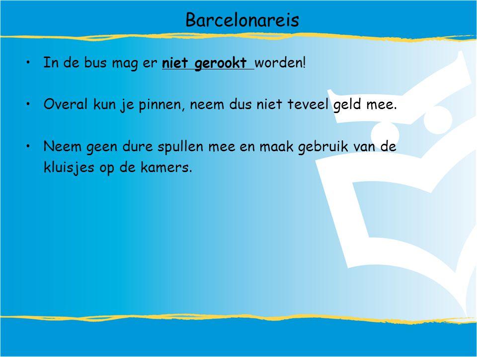 Barcelonareis In de bus mag er niet gerookt worden!