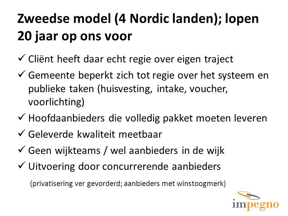 Zweedse model (4 Nordic landen); lopen 20 jaar op ons voor