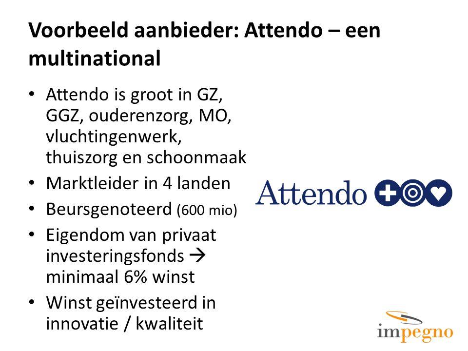 Voorbeeld aanbieder: Attendo – een multinational