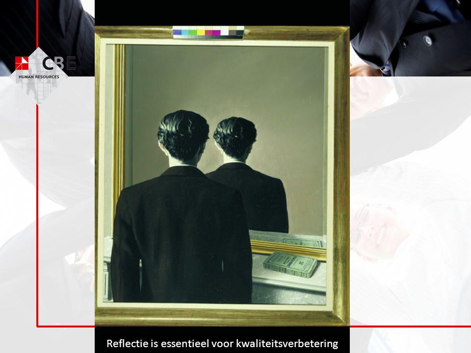 Reflectie is essentieel voor kwaliteitsverbetering
