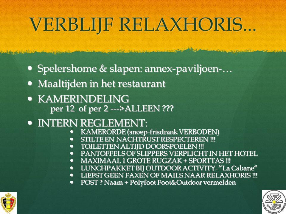VERBLIJF RELAXHORIS... Spelershome & slapen: annex-paviljoen-…