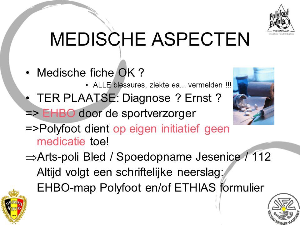 MEDISCHE ASPECTEN Medische fiche OK TER PLAATSE: Diagnose Ernst
