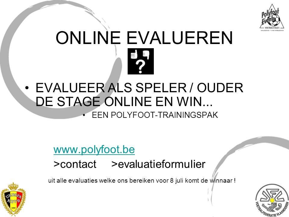 ONLINE EVALUEREN EVALUEER ALS SPELER / OUDER DE STAGE ONLINE EN WIN...