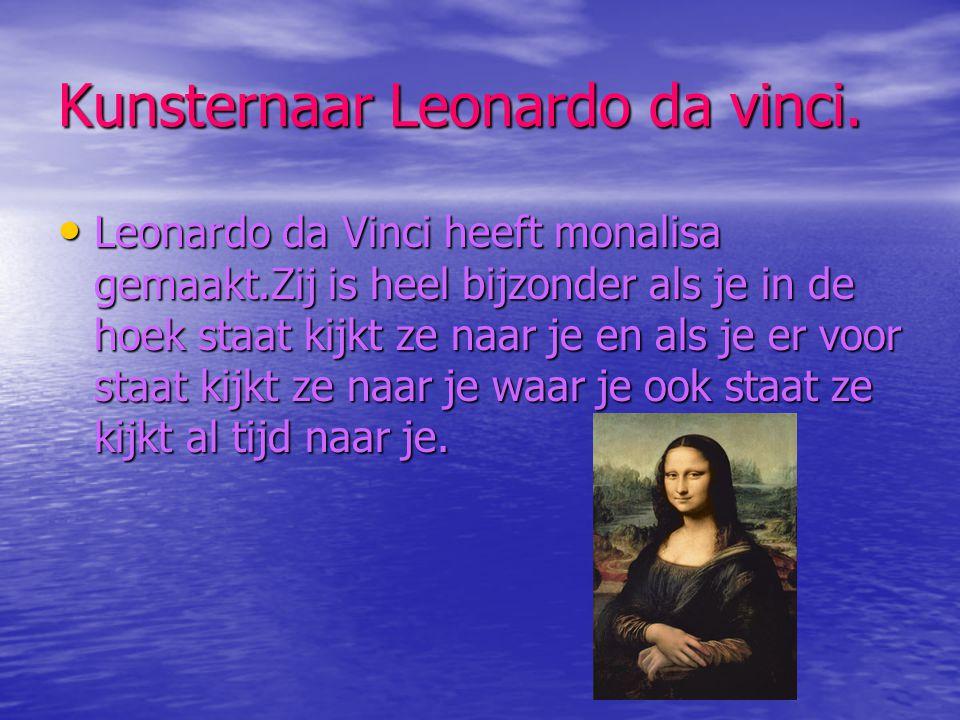 Kunsternaar Leonardo da vinci.