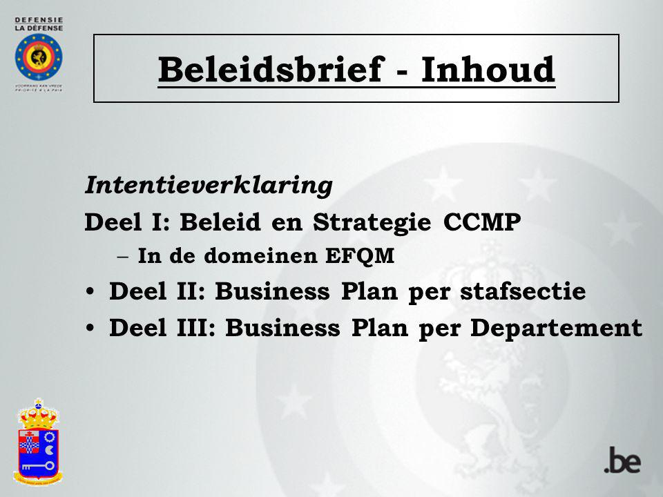 Beleidsbrief - Inhoud Intentieverklaring
