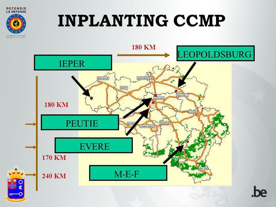 INPLANTING CCMP LEOPOLDSBURG IEPER PEUTIE EVERE M-E-F 180 KM 170 KM