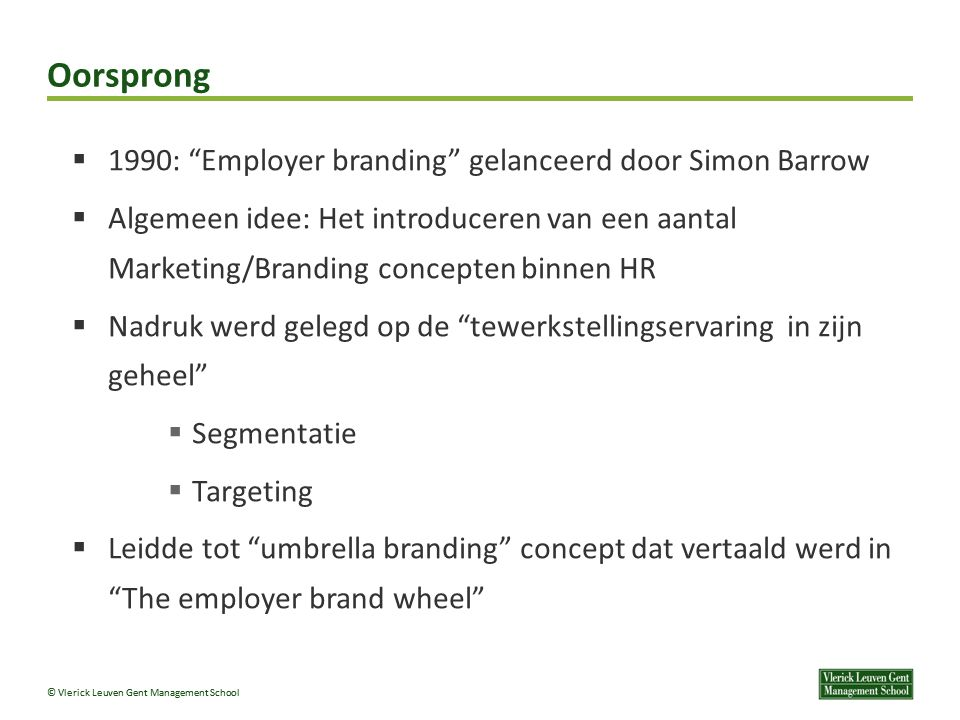 Oorsprong 1990: Employer branding gelanceerd door Simon Barrow