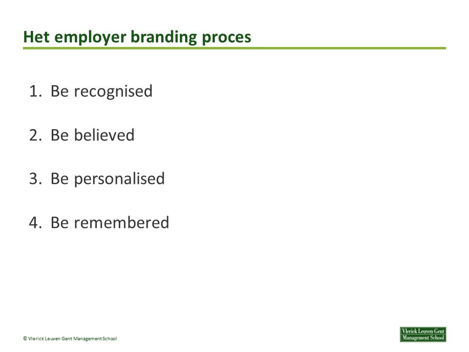 Het employer branding proces