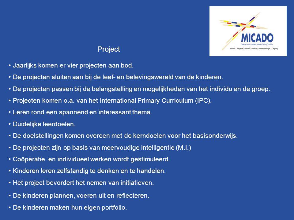 Project Jaarlijks komen er vier projecten aan bod.