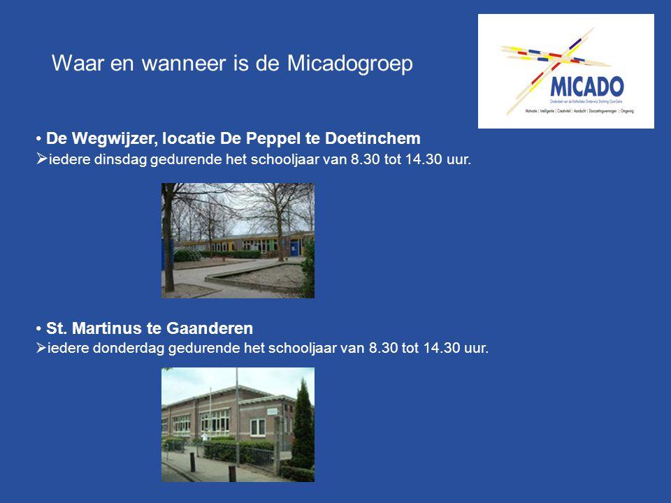 Waar en wanneer is de Micadogroep