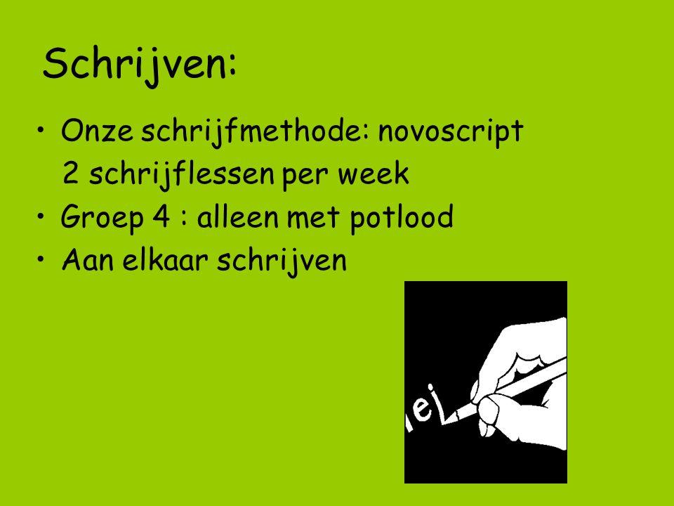 Schrijven: Onze schrijfmethode: novoscript 2 schrijflessen per week