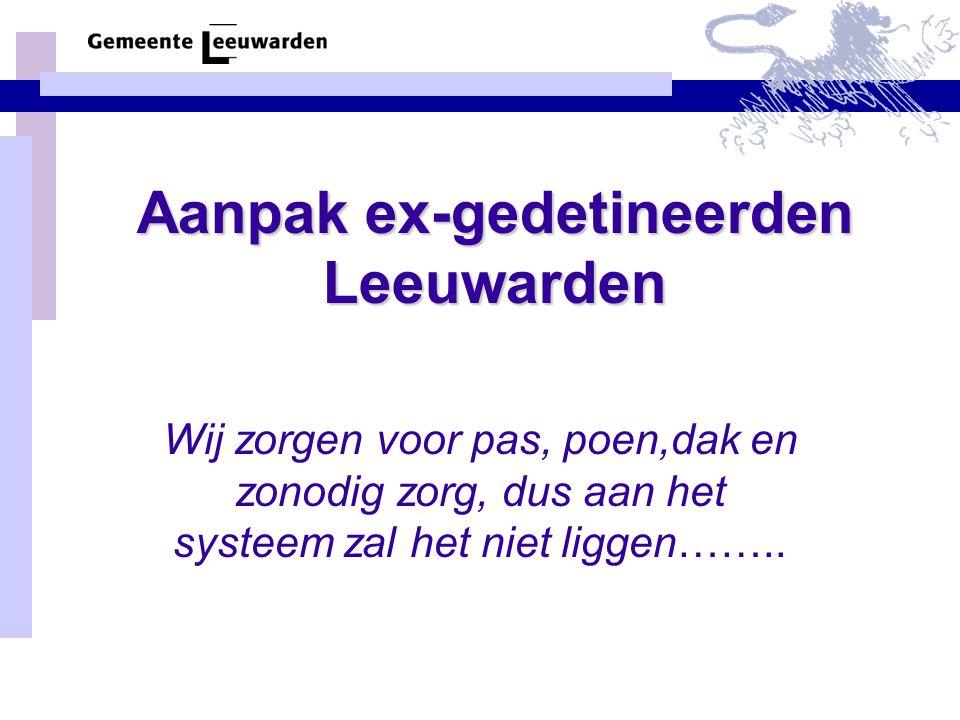 Aanpak ex-gedetineerden Leeuwarden
