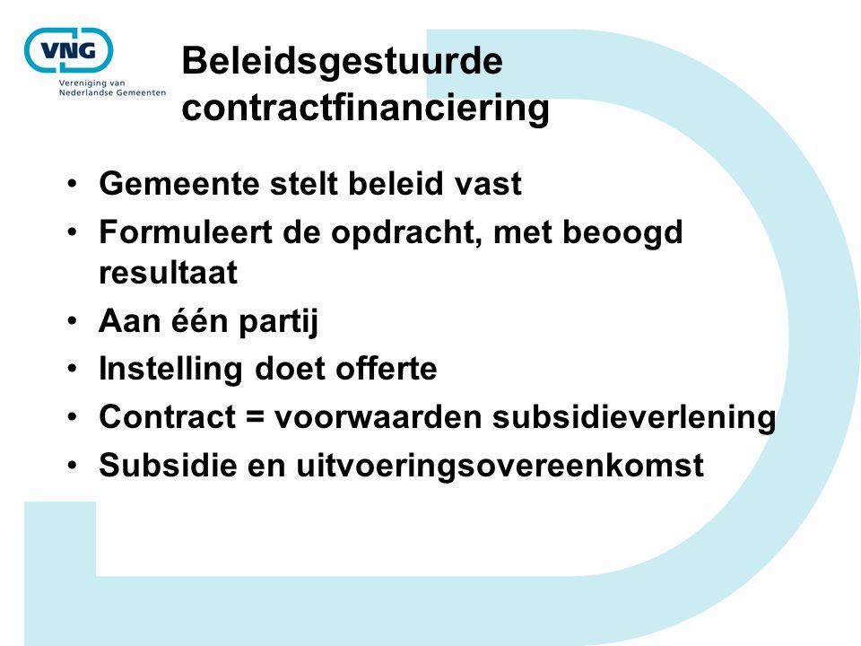 Beleidsgestuurde contractfinanciering