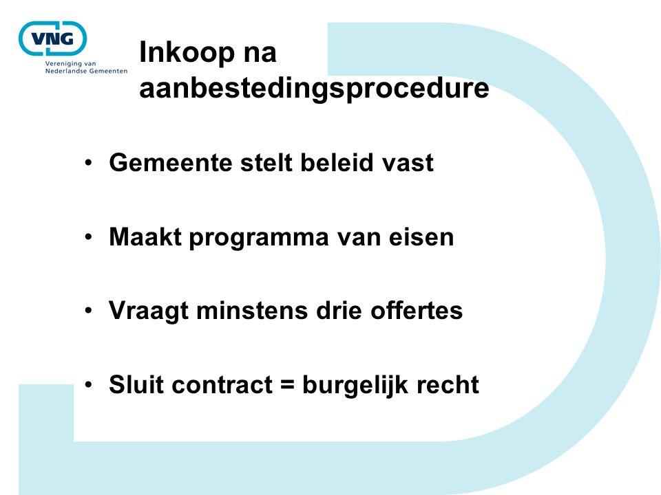 Inkoop na aanbestedingsprocedure