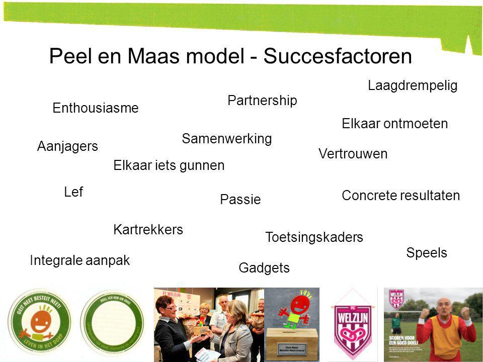 Peel en Maas model - Succesfactoren