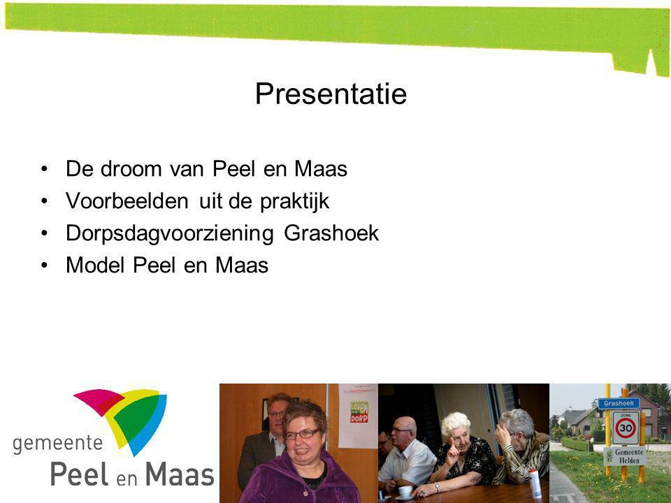 Presentatie De droom van Peel en Maas Voorbeelden uit de praktijk