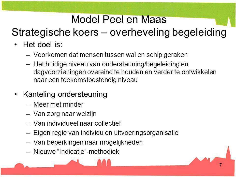 Model Peel en Maas Strategische koers – overheveling begeleiding