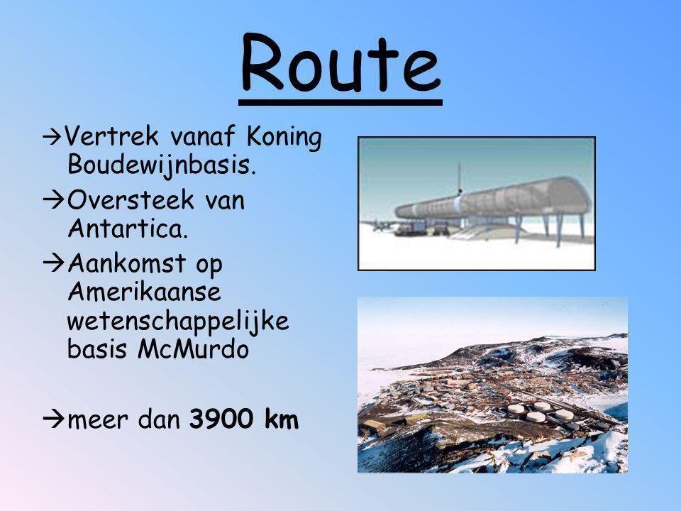 Route Oversteek van Antartica.
