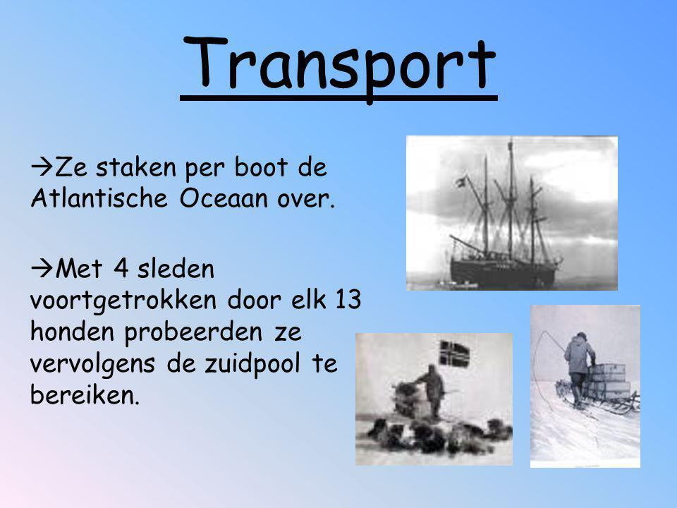 Transport Ze staken per boot de Atlantische Oceaan over.
