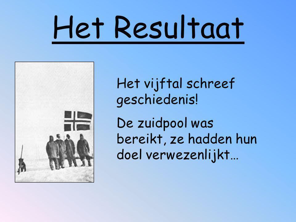 Het Resultaat Het vijftal schreef geschiedenis!