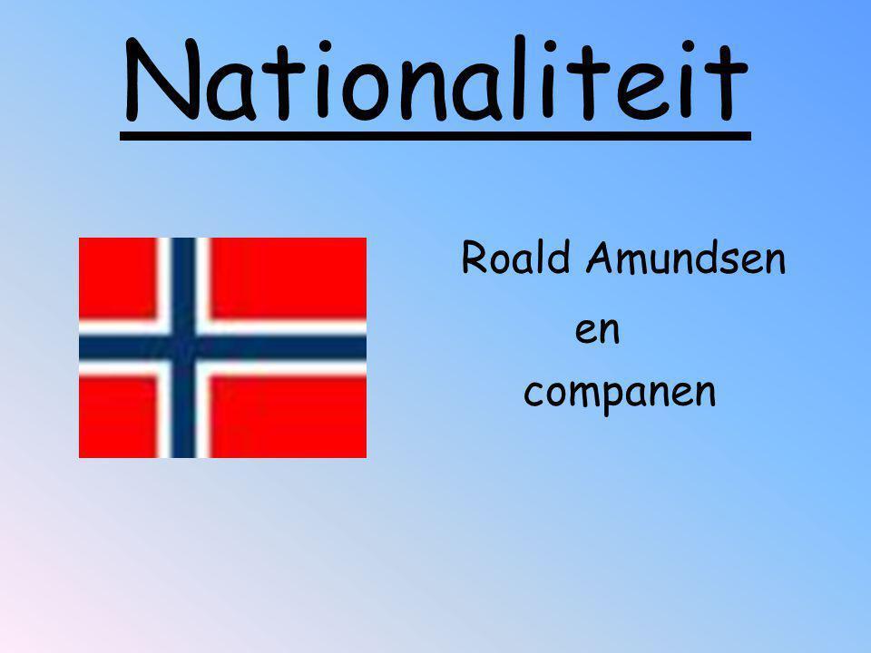 Nationaliteit Roald Amundsen en companen