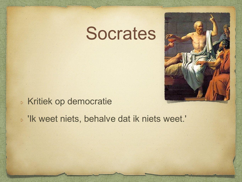 Socrates Kritiek op democratie