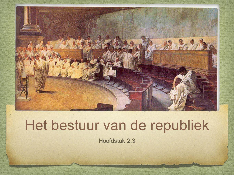 Het bestuur van de republiek