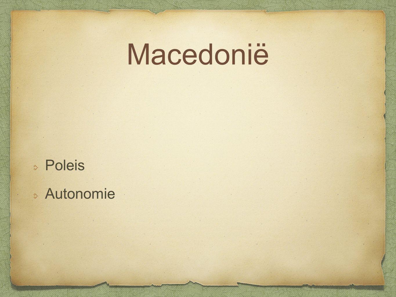 Macedonië Poleis Autonomie