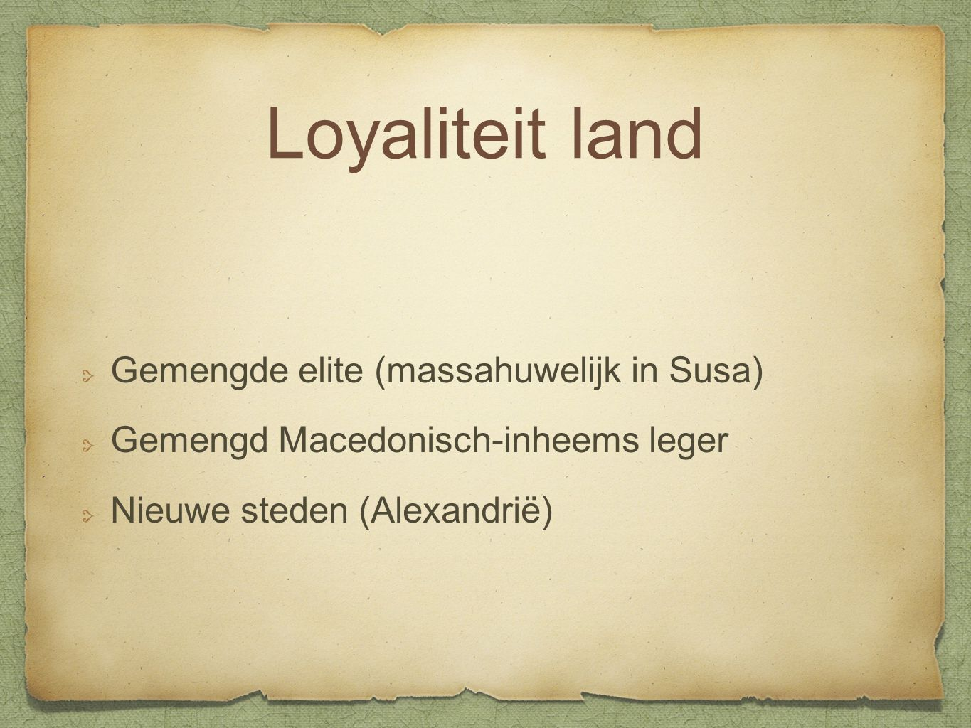 Loyaliteit land Gemengde elite (massahuwelijk in Susa)