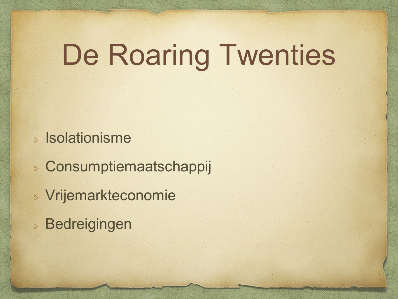 De Roaring Twenties Isolationisme Consumptiemaatschappij